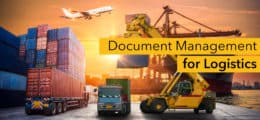 Document management for logistics