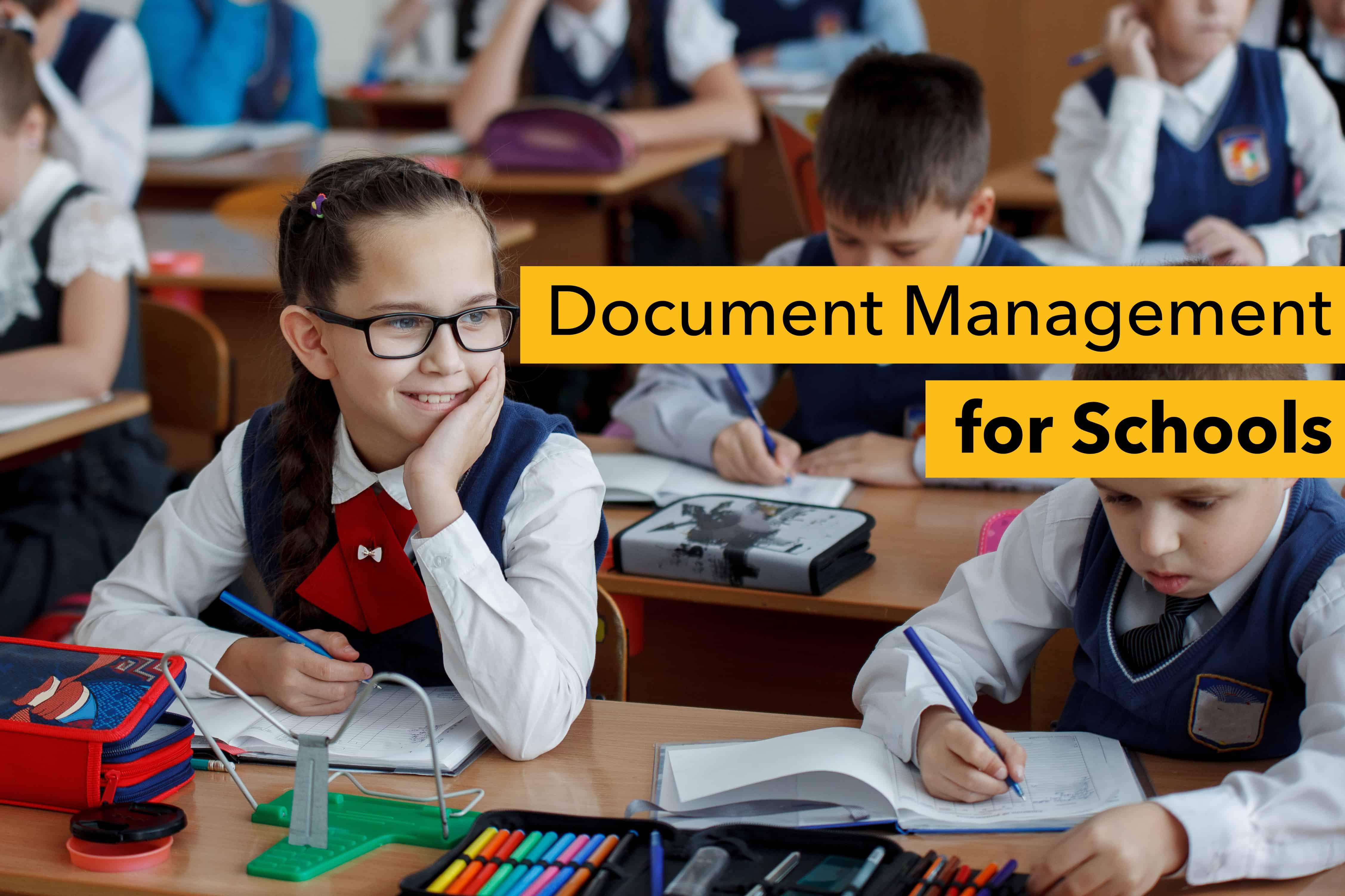 Document management for schools education