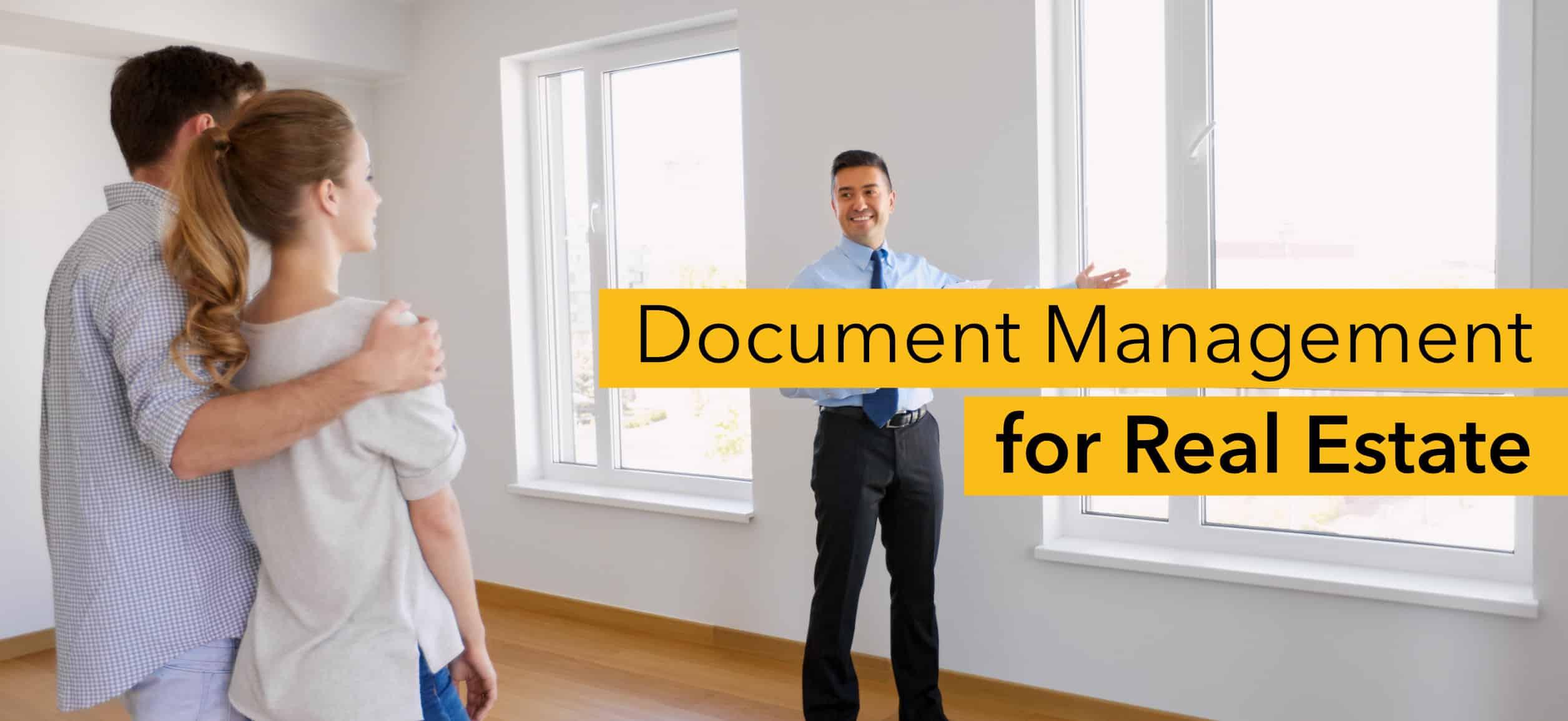Document management real estate