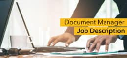 Document manager job description