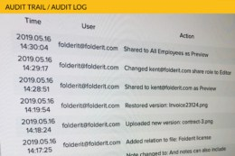 Audit Trails Logs Document Management System