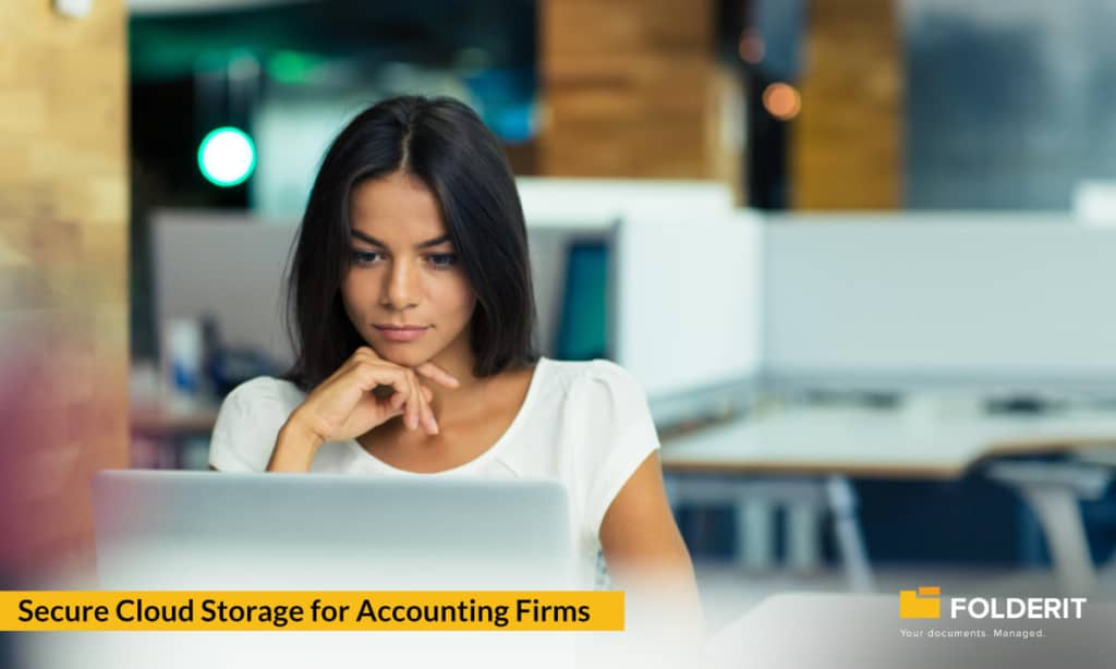 Secure cloud storage for accounting firms