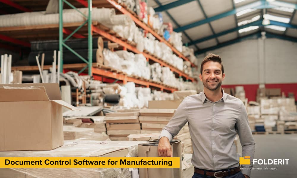 Folderit document Control Software for Manufacturing
